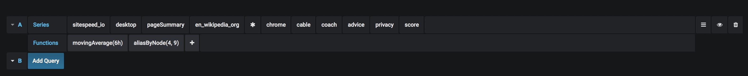 Alert privacy query