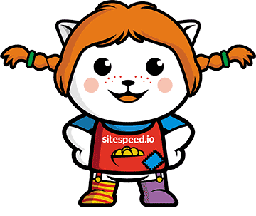 The power of sitespeed.io - Pippi Longstocking logo