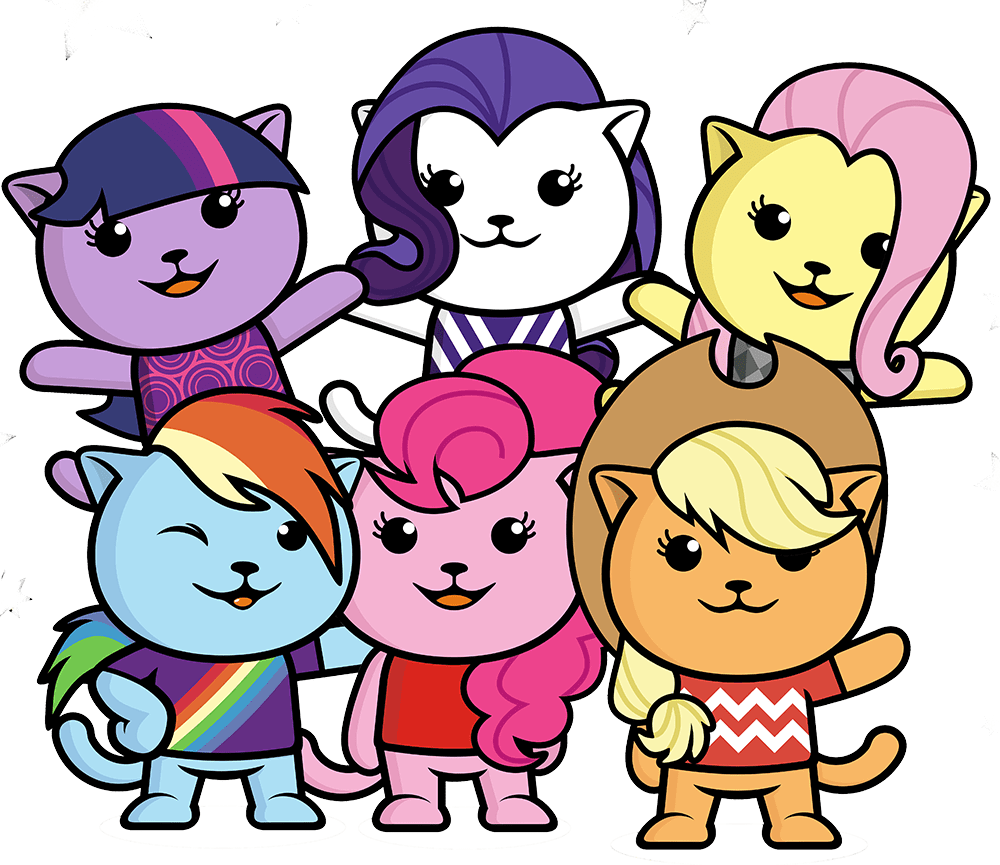 sitespeed.io Logo with My Little Pony style cats